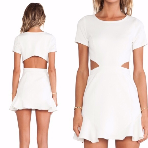 Lovers + Friends Dresses & Skirts - Lovers + Friends Eternal Ivory Ruffle Dress
